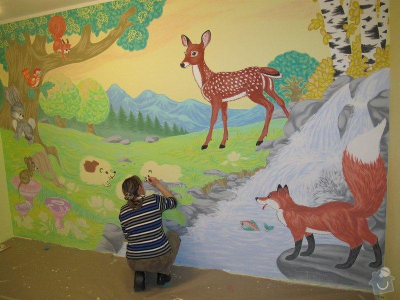 Malba na zeď v dětském pokojíčku: 13_vznik