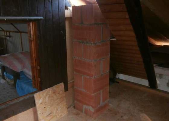 Stavba nového komínu