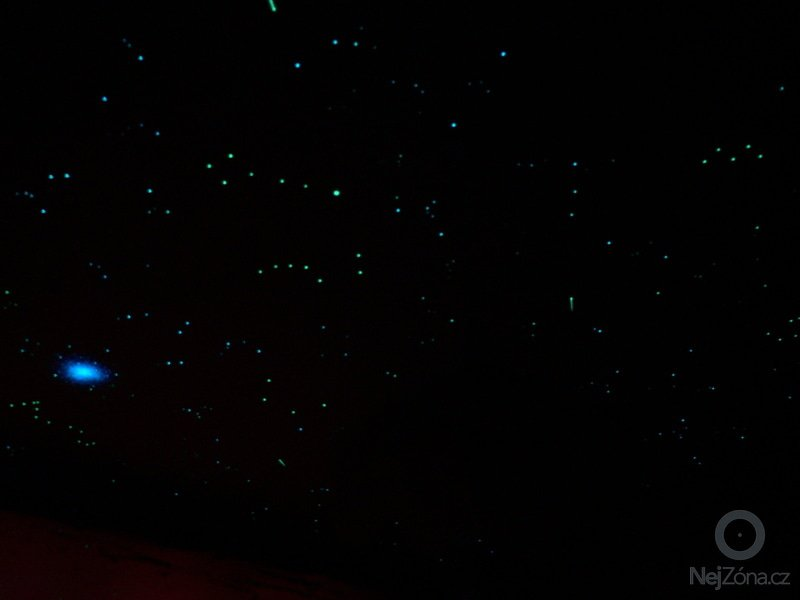 Malba hvězdné oblohy na polystyrénové podhledy - inspirace: P1230210
