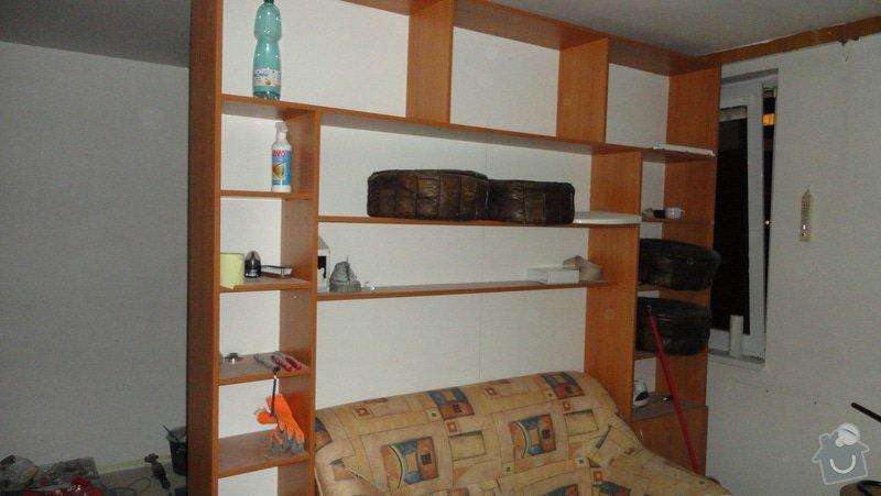 Rekonstrukce bytového jádra: nezakryta_drevena_stena