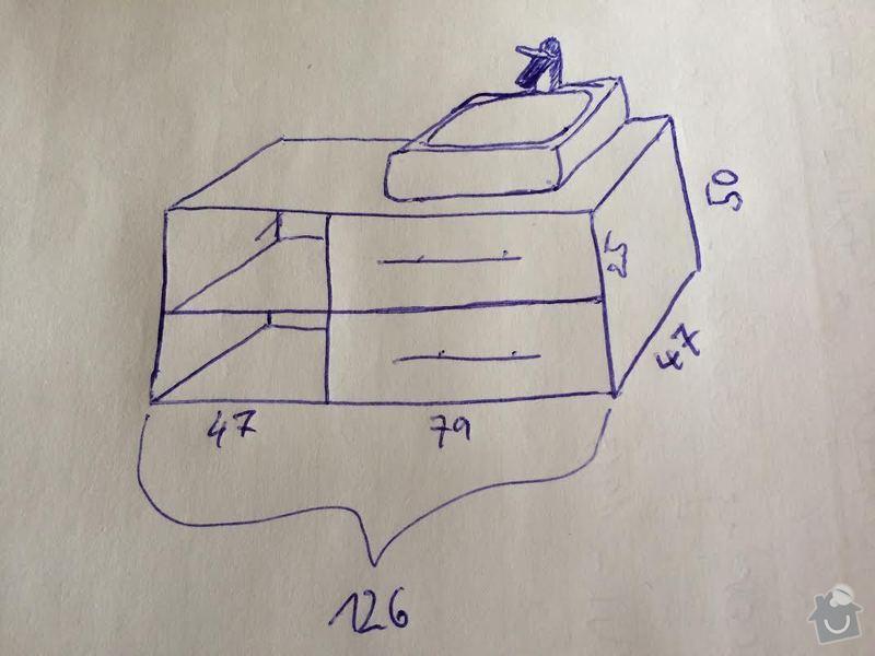 Koupelnová skříňka pod umyvadlo: schema