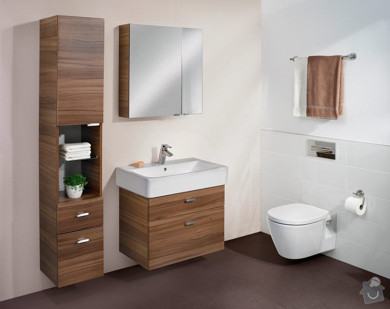 Koupelnová skříňka pod umyvadlo: dekor