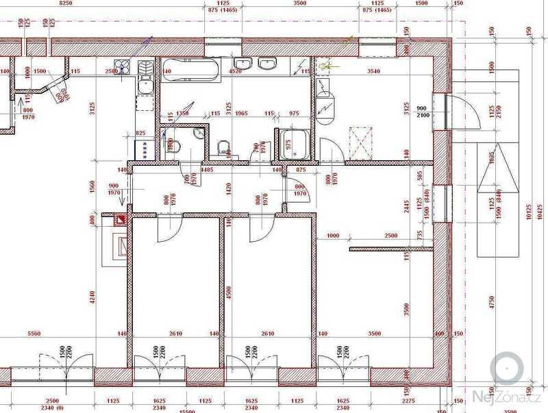 Zednické práce - realizace základové desky a hrubé stavby: 2014-10_1n_udorys_1NP_det_b