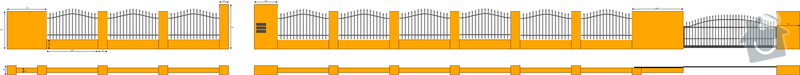 Stavba plotu betonové tvarovky + jekl: plot1