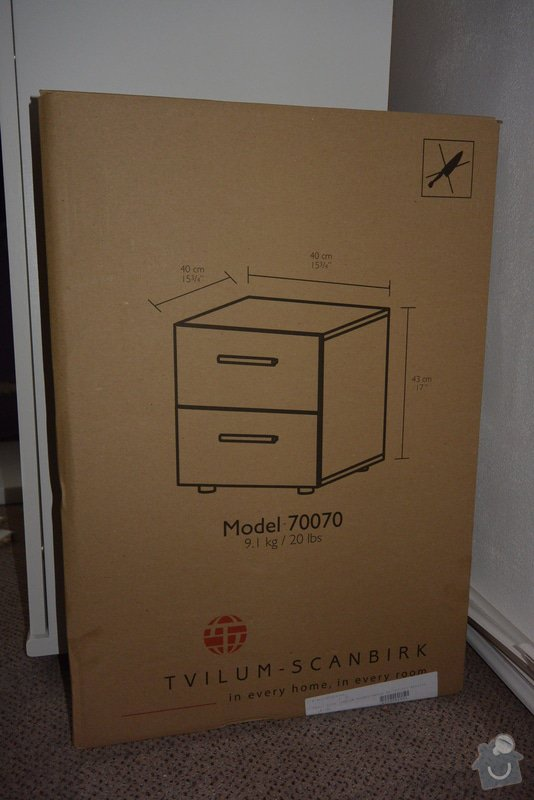 Instalace lišt, závěsného systému pro závěsy, instalace 2 nočních stolků: DSC_1357