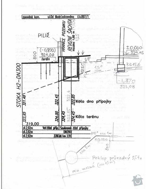 Montáž kanalizační šachty: Pripojka_kanalizace