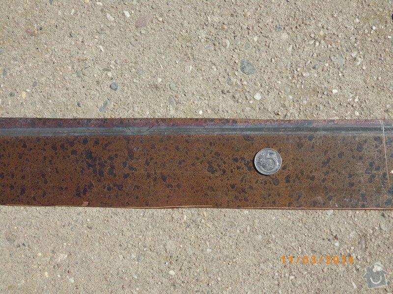 Patinovaný hnědý Cu plech - 60 x 80 cm, síla plechu nerozhoduje: VOPR7472