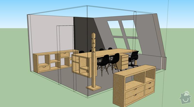 Výroba kancelářského nábytku z OSB: celkovy_pohled