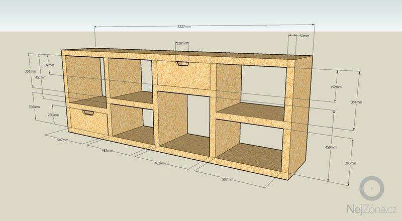 Výroba kancelářského nábytku z OSB: knihovna