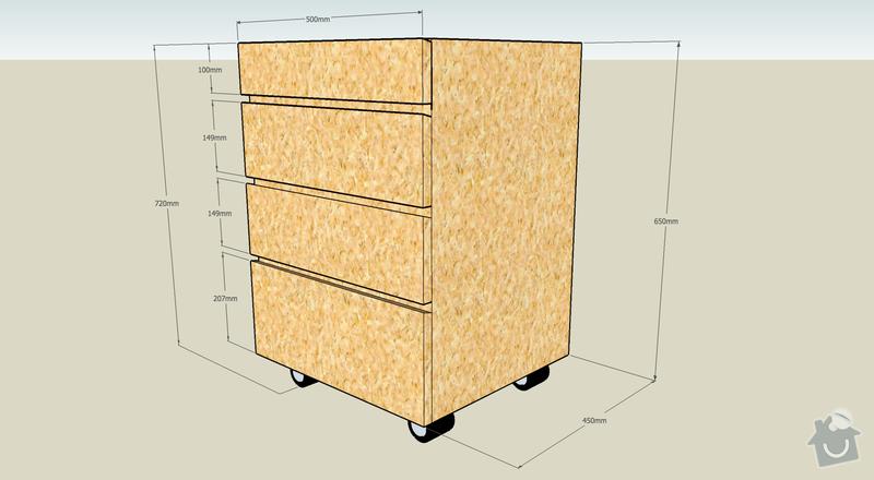 Výroba kancelářského nábytku z OSB: kontejner