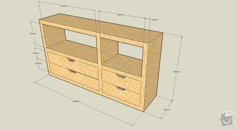 Výroba kancelářského nábytku z OSB: regal1
