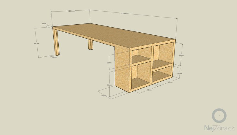 Výroba kancelářského nábytku z OSB: stul