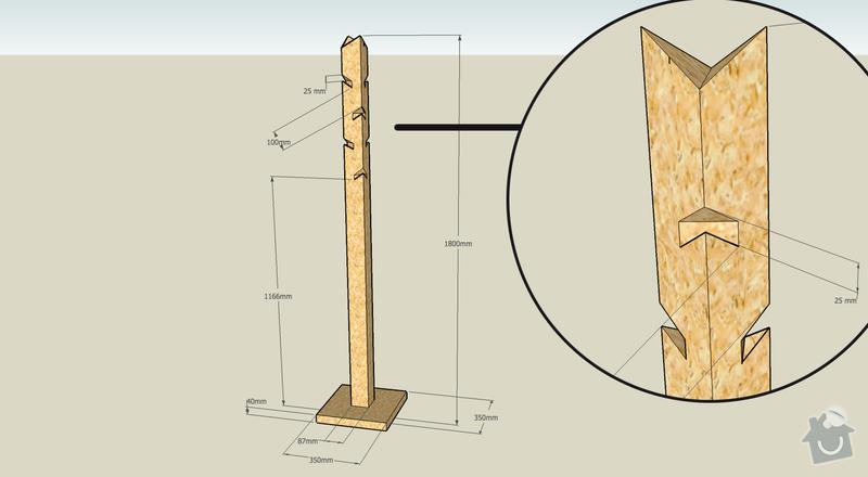 Výroba kancelářského nábytku z OSB: vesak