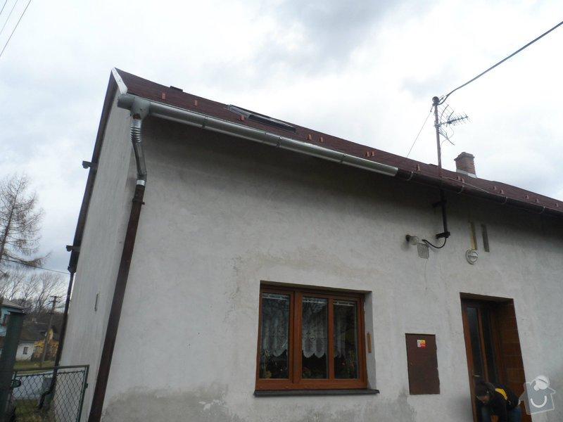 Částečná rekonstrukce sedlové střechy + výměna okapů: Okap