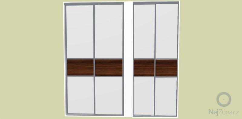 Sestava vestavěných skříní do výklenků: dvere