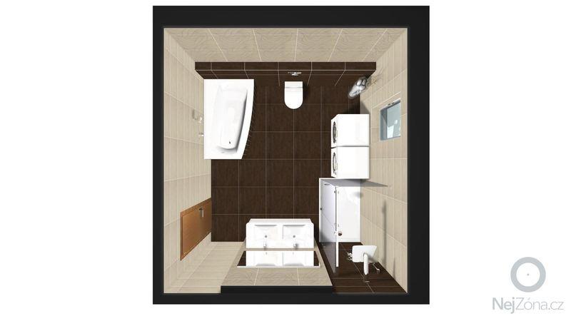 Rekonstrukce koupelny v rodinném domě: Graf.navrh1