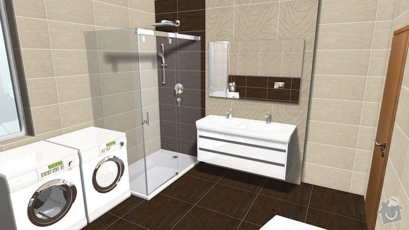 Rekonstrukce koupelny v rodinném domě: Graf.navrh2
