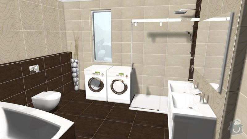 Rekonstrukce koupelny v rodinném domě: Graf.navrh5