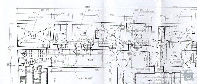 Položení dlažby v průjezdu domu a obložení navazujícího schodiště: 002