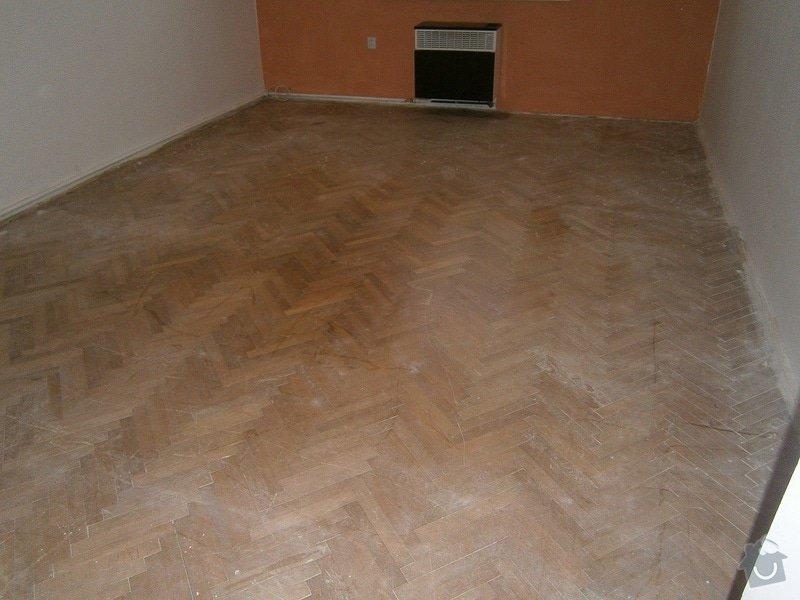 Renovace / rekonstrukce parket Praha, 1 pokoj 23 m2: pred-renovaci