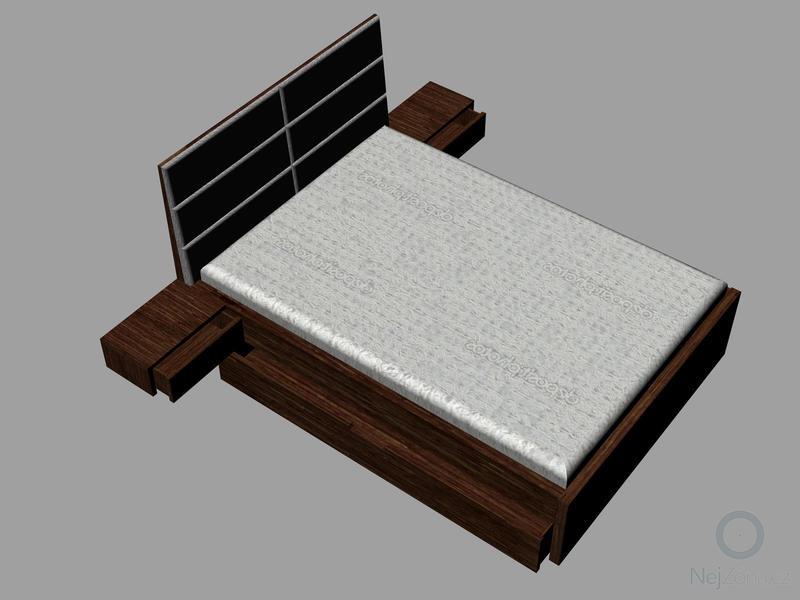 Výroba postele na míru: Postel_polstr