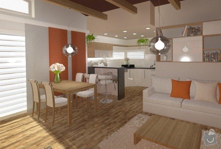 Návrh kuchyně, obývacího pokoje a koupelny: RD_Dub_nad_Moravou_kuchyn_obyvak_63
