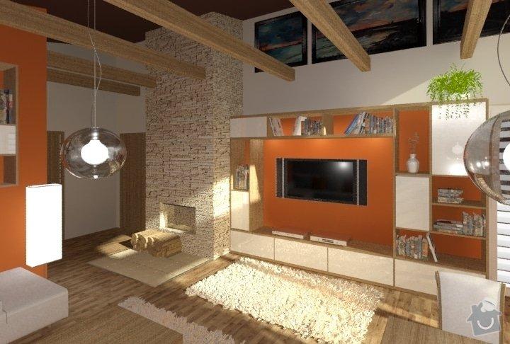 Návrh kuchyně, obývacího pokoje a koupelny: RD_Dub_nad_Moravou_kuchyn_obyvak_66