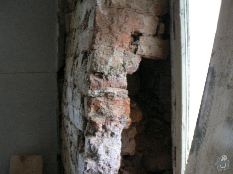 Rekontrukce střechy,podřezání zdí,stavební práce: P1150379