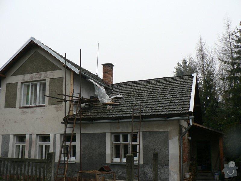 Rekontrukce střechy,podřezání zdí,stavební práce: P1150393