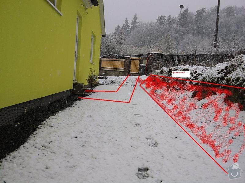 Přesun vjezdové brány, výstavba chodníku a dvou parkovacích míst, úprava terasy: DSC09631_1