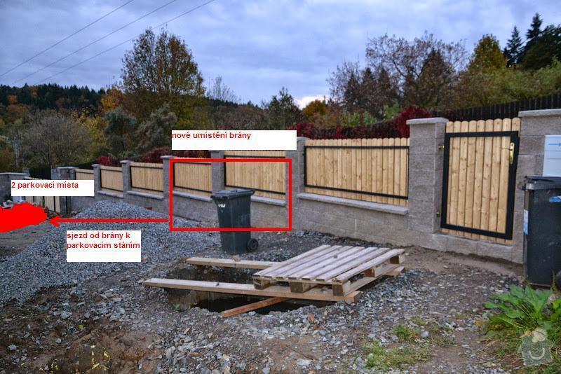 Přesun vjezdové brány, výstavba chodníku a dvou parkovacích míst, úprava terasy: DSC_7958_1