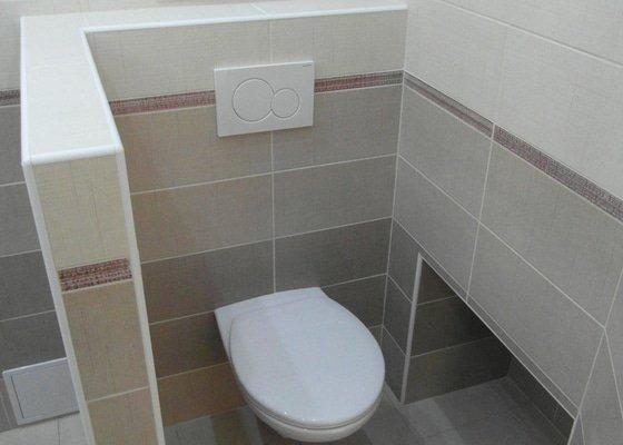 Sádrokartonový podhled, zdenické práce, obklad koupelny, pokládka dlažby.
