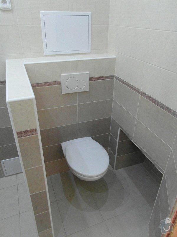 Sádrokartonový podhled, zdenické práce, obklad koupelny, pokládka dlažby.: SAM_2765