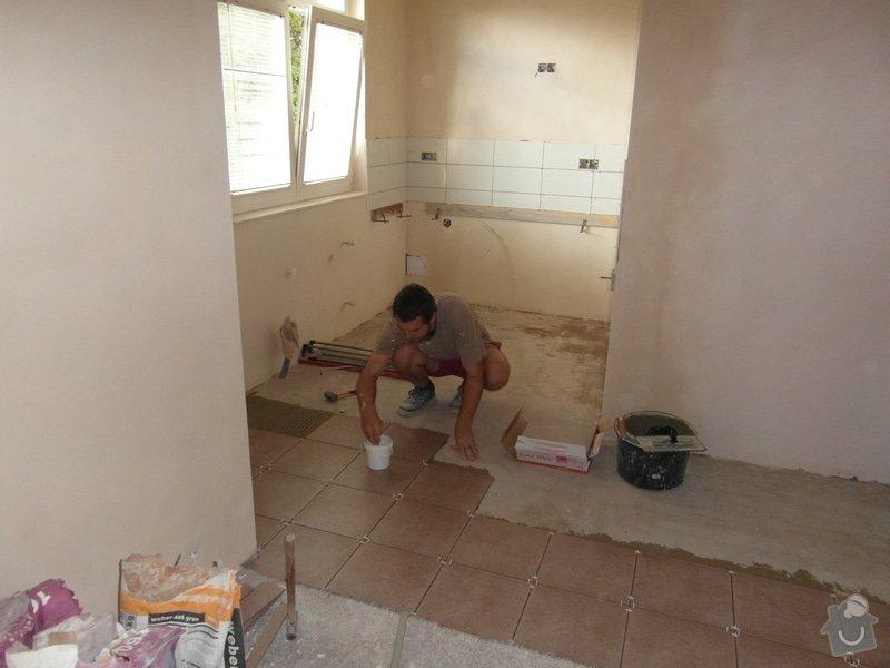 Sádrokartonový podhled, zdenické práce, obklad koupelny, pokládka dlažby.: SAM_2705
