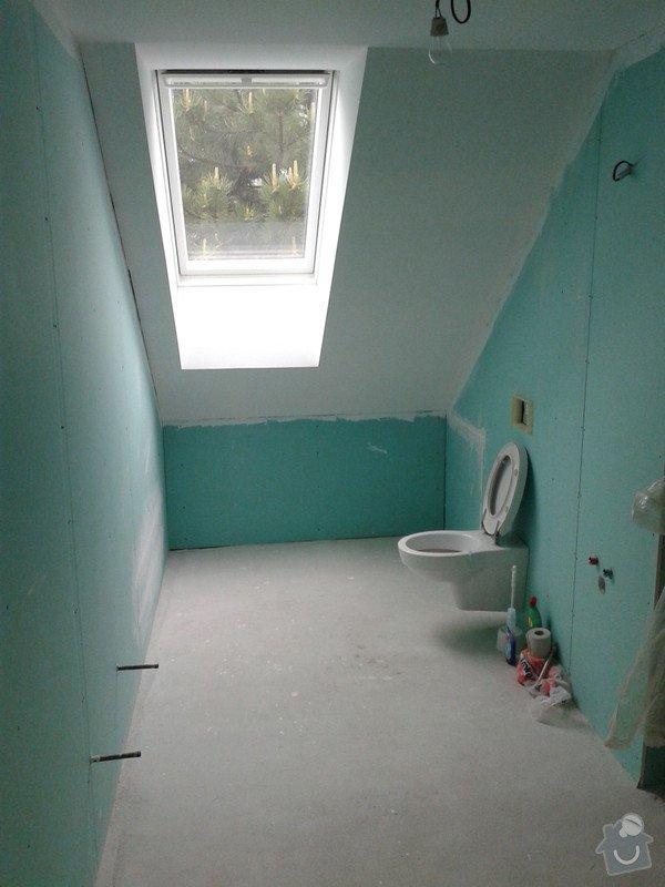 Pokládka obkladů a dlažby ve 2 koupelnách, dohromady cca 67 m2: 20130524_141958