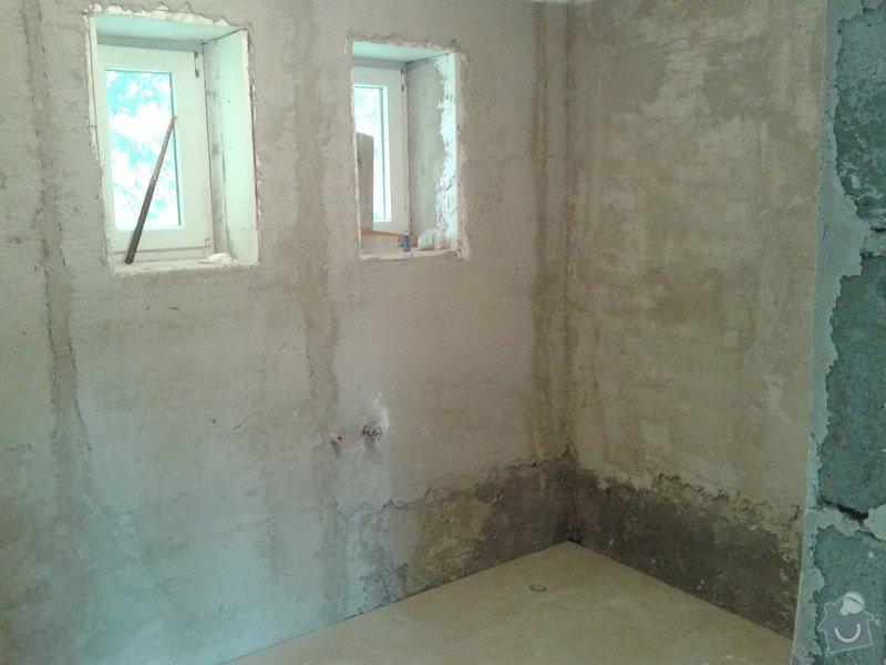 Pokládka obkladů a dlažby ve 2 koupelnách, dohromady cca 67 m2: 20130524_140305