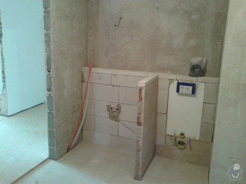 Pokládka obkladů a dlažby ve 2 koupelnách, dohromady cca 67 m2: 20130524_140320
