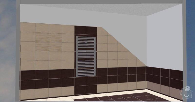 Pokládka obkladů a dlažby ve 2 koupelnách, dohromady cca 67 m2: Tanaka_I.NP_F