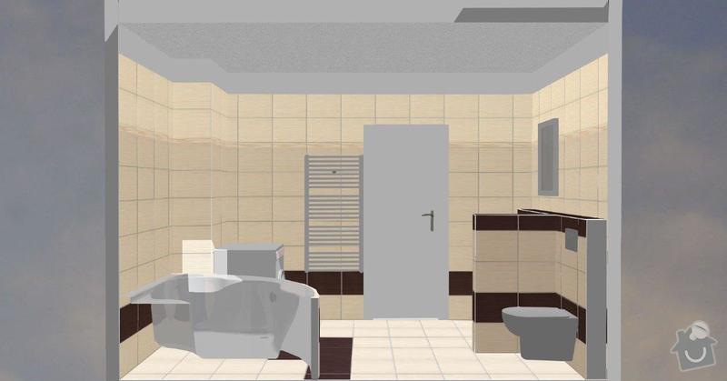 Pokládka obkladů a dlažby ve 2 koupelnách, dohromady cca 67 m2: Tanaka_prizemi_A