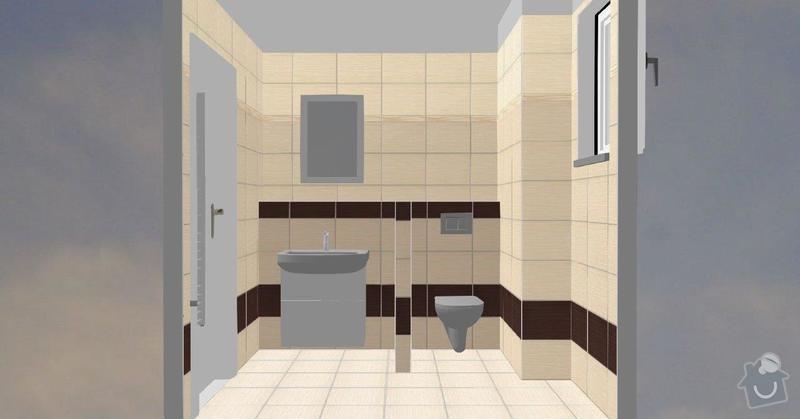 Pokládka obkladů a dlažby ve 2 koupelnách, dohromady cca 67 m2: Tanaka_prizemi_C