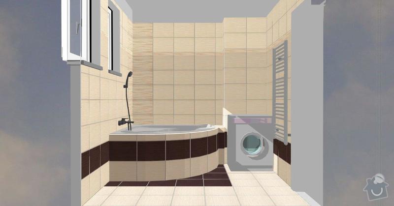 Pokládka obkladů a dlažby ve 2 koupelnách, dohromady cca 67 m2: Tanaka_prizemi_D