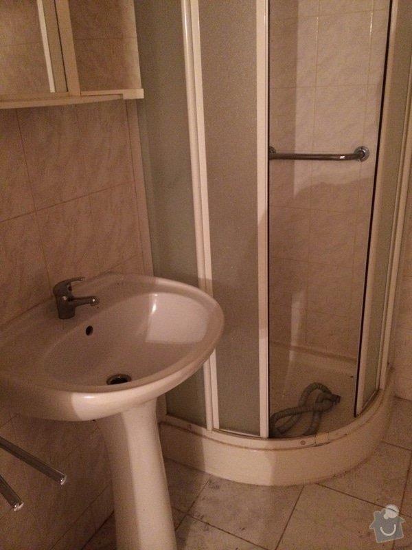 Vybourani bytoveho jadra a jeho odvoz: koupelna