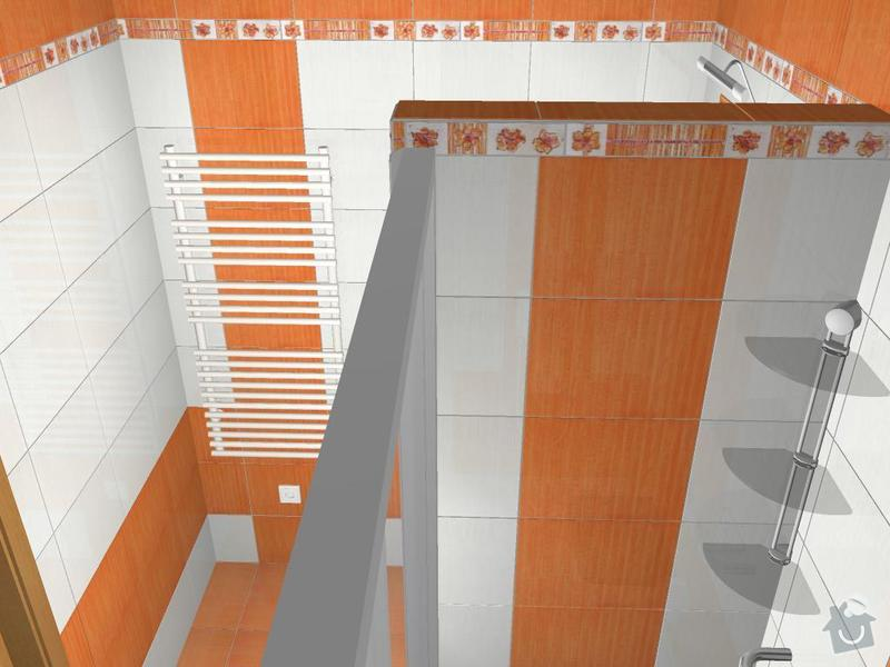 Kompletní rekonstrukce koupelny: 3D-06