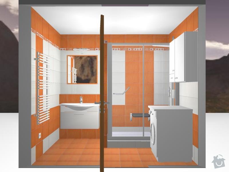 Kompletní rekonstrukce koupelny: 3D-09