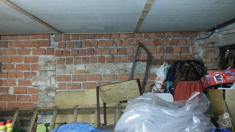 Zednické práce - nahození stěn a zazdění vrat: 1