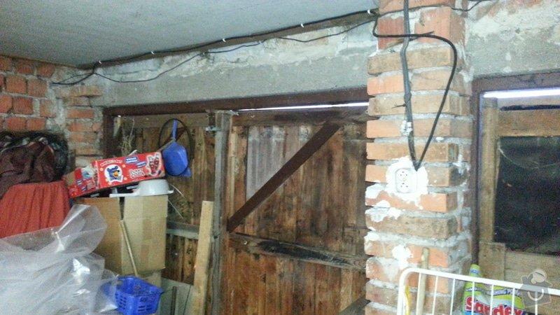 Zednické práce - nahození stěn a zazdění vrat: 6