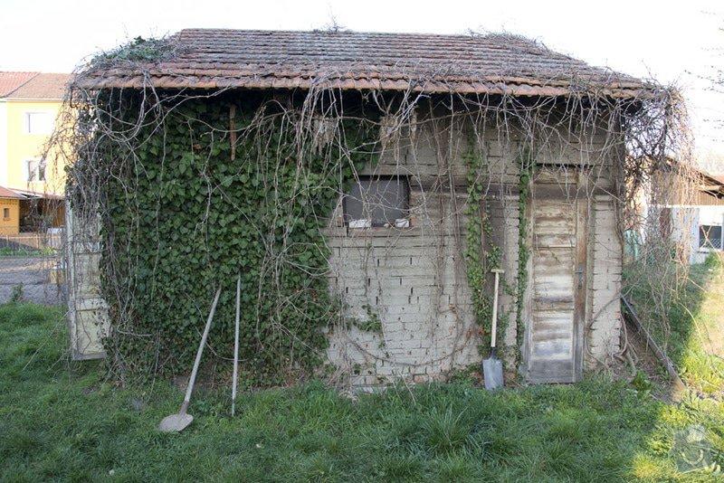 Úprava zahradního domku na benkovní posezení: 1p