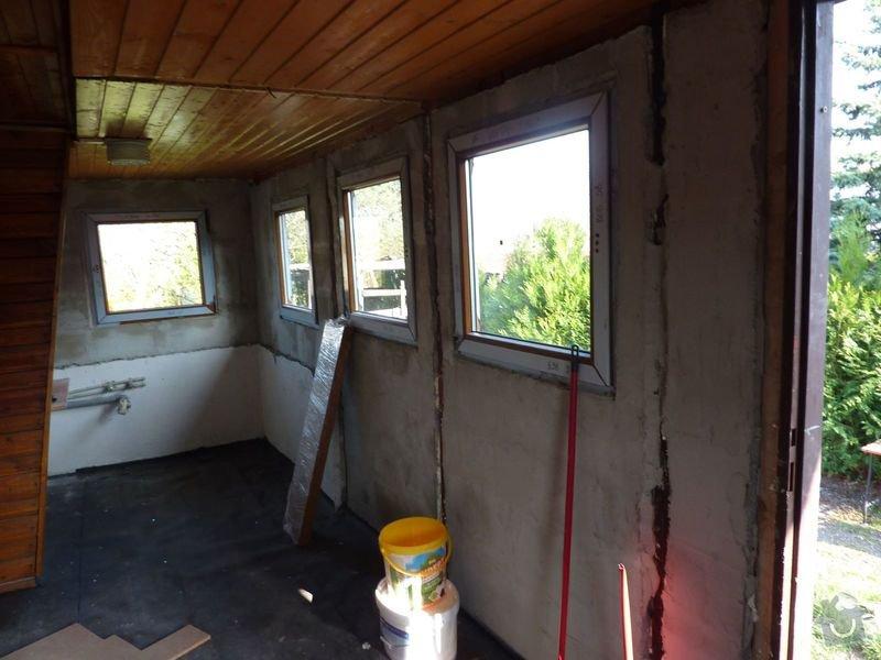 Štukování , dokončení rekonstrukce chatky: P1080365male