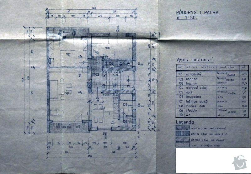Zateplení domu 160m2: 1patro