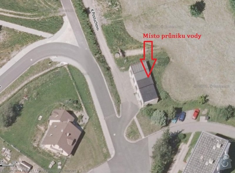 Oprava střechy garáže: Umisteni_garaze-Hlubocky_Marianske_Udoli-2